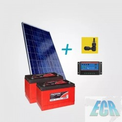 Kit Placa Solar + Controlador + Baterias