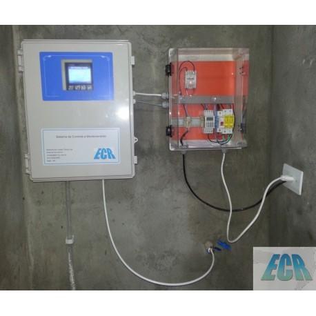 Sistema integrado de Análise on-line de Cloro Livre / ClO 2 / pH